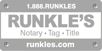 Runkle's Notary • Tag • Title