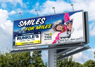 Runkle's Billboard: Smiles for Miles