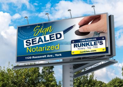 Runkles Billboard: Notary