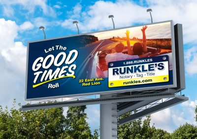 Runkles Billboard: Let the good times roll