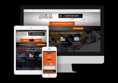 Ideal Auto Body Website