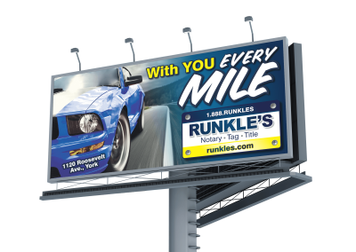 Runkle's Billboard: With you every mile