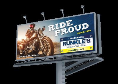 ride proud billboard