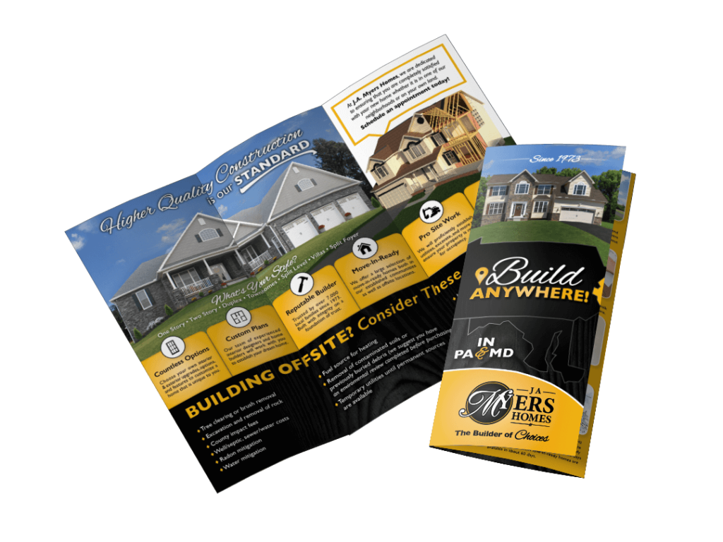 JA Myers Homes Brochure Design By Why Not Advertising, LLC