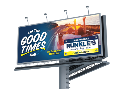 Let the good times roll billboard