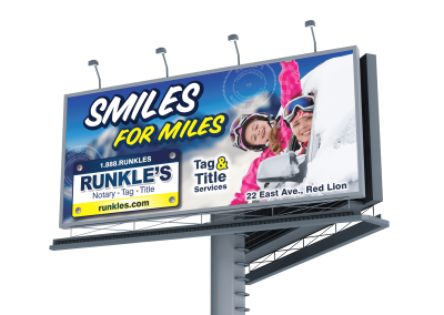 smiles for miles billboard
