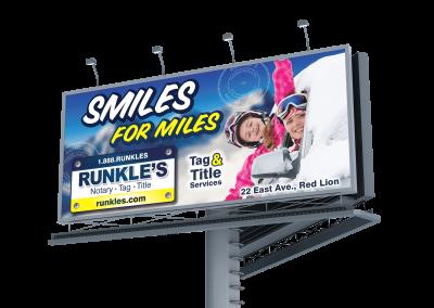 smiles for miles billboard