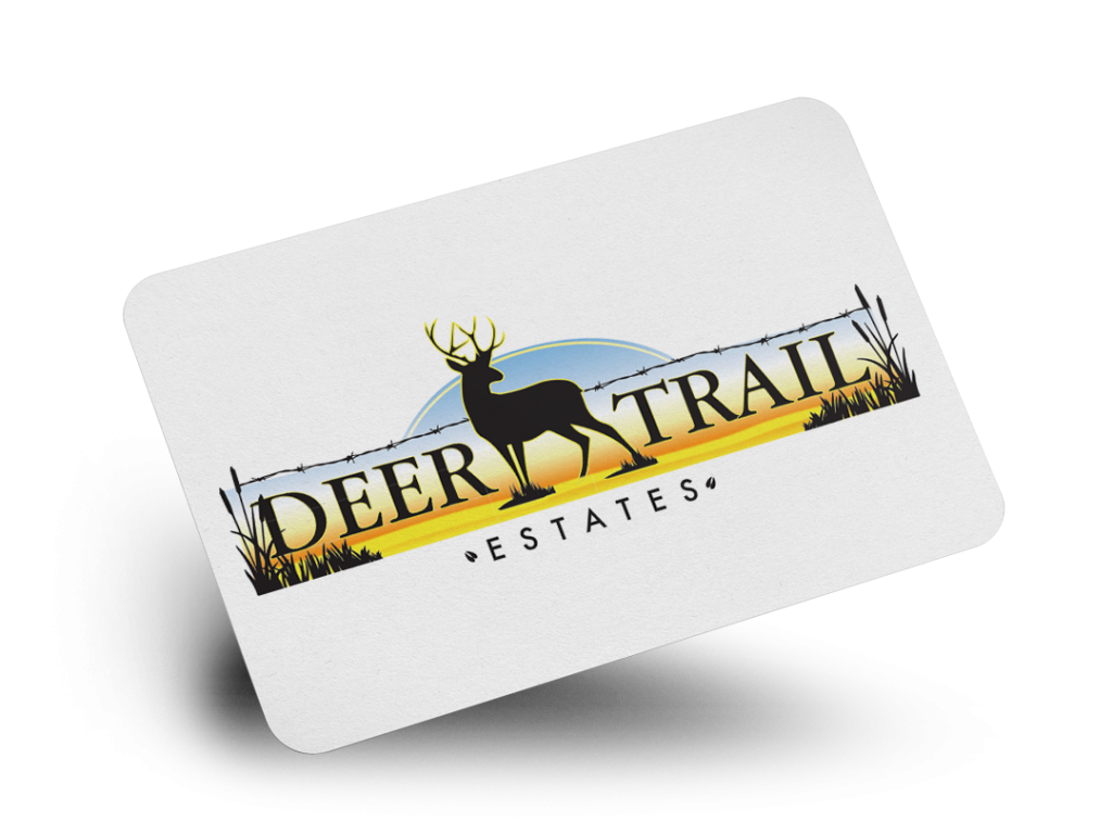 Deer Trail Estates Logo Design By Why Not Advertising, LLC