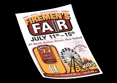 Firemen's Fair Poster
