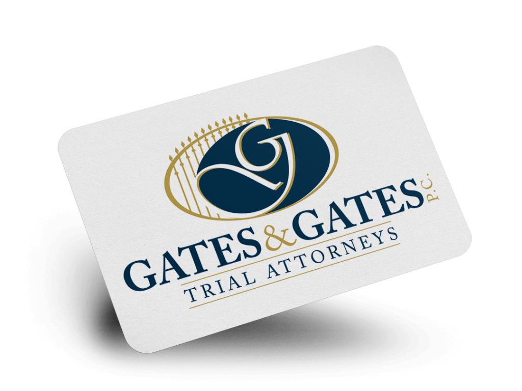 Gates & Gates P.C. Trial Attorneys Logo Design By Why Not Advertising, LLC