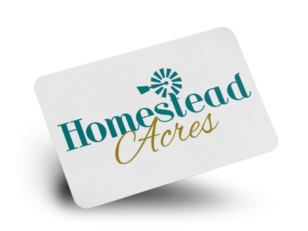 Homestead Acres Logo Design By Why Not Advertising, LLC