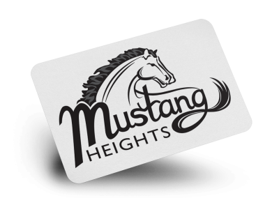 Mustang Heights Logo Design
