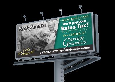 Garrick Jewelers Billboard – Ricks 60
