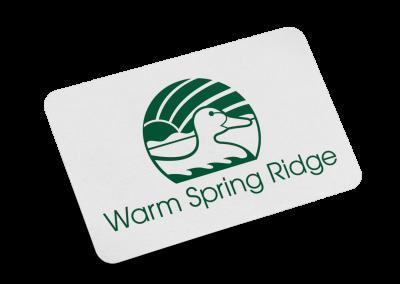 Warm Spring Ridge Logo Design