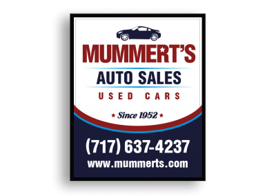 Mummerts Auto Sales Hanging Sign