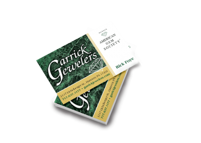 Garrick Jewelers Business Card
