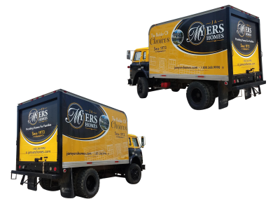 J.A. Myers Homes Vehicle Wrap