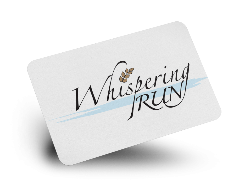 Whispering Run Logo Design By Why Not Advertising, LLC