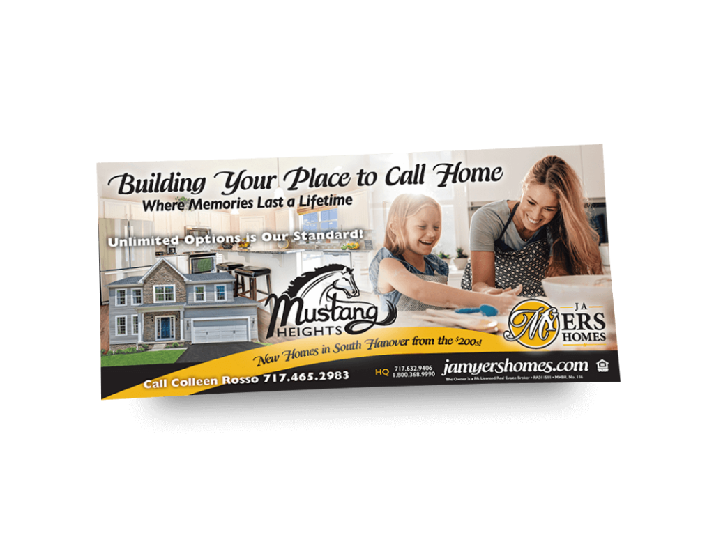 Building Your Place to Call Home Newspaper Ad Designed By Why Not Advertising, LLC