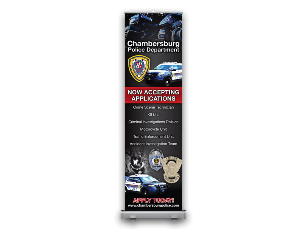 Chambersburg Boro Police Roll-Up Banner Stand