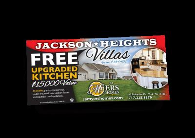 Jackson Heights Villas Newspaper Ad Design