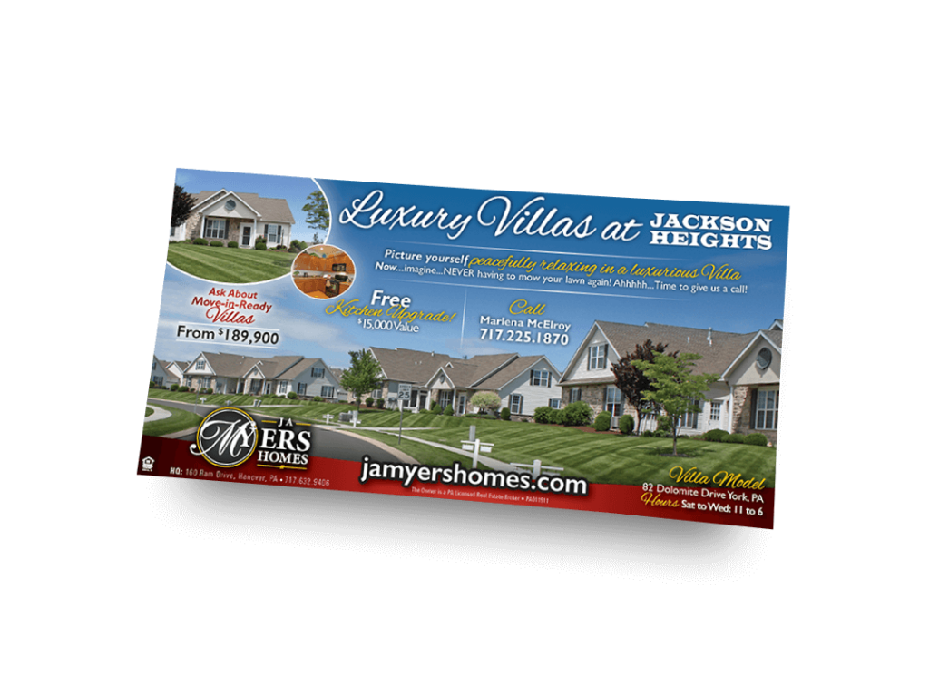Luxury Villas Newspaper Ad Designed By Why Not Advertising, LLC