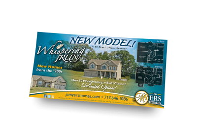 New Model at Whispering Run Newspaper Ad Design