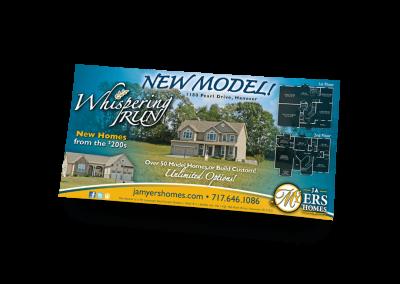 New Model at Whispering Run Newspaper Ad Design