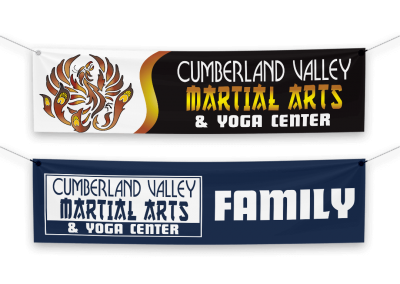 Cumberland Valley Martial Arts & Yoga Center Banners