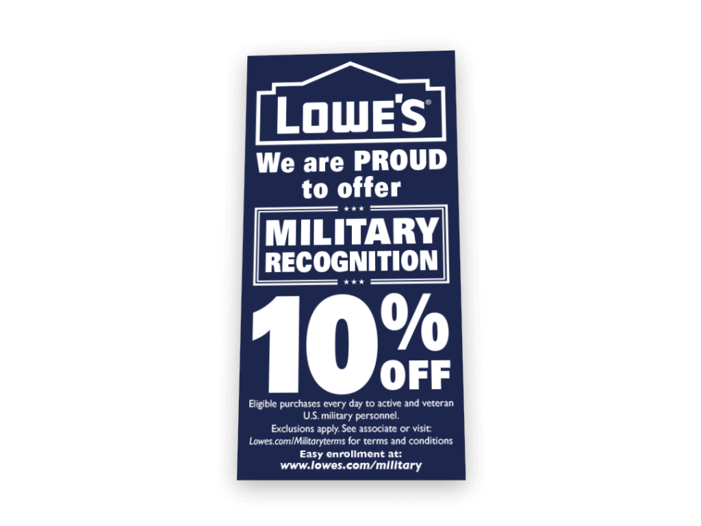 Lowe's Military Recognition Sign