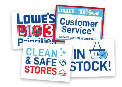 Lowe's Store Signs