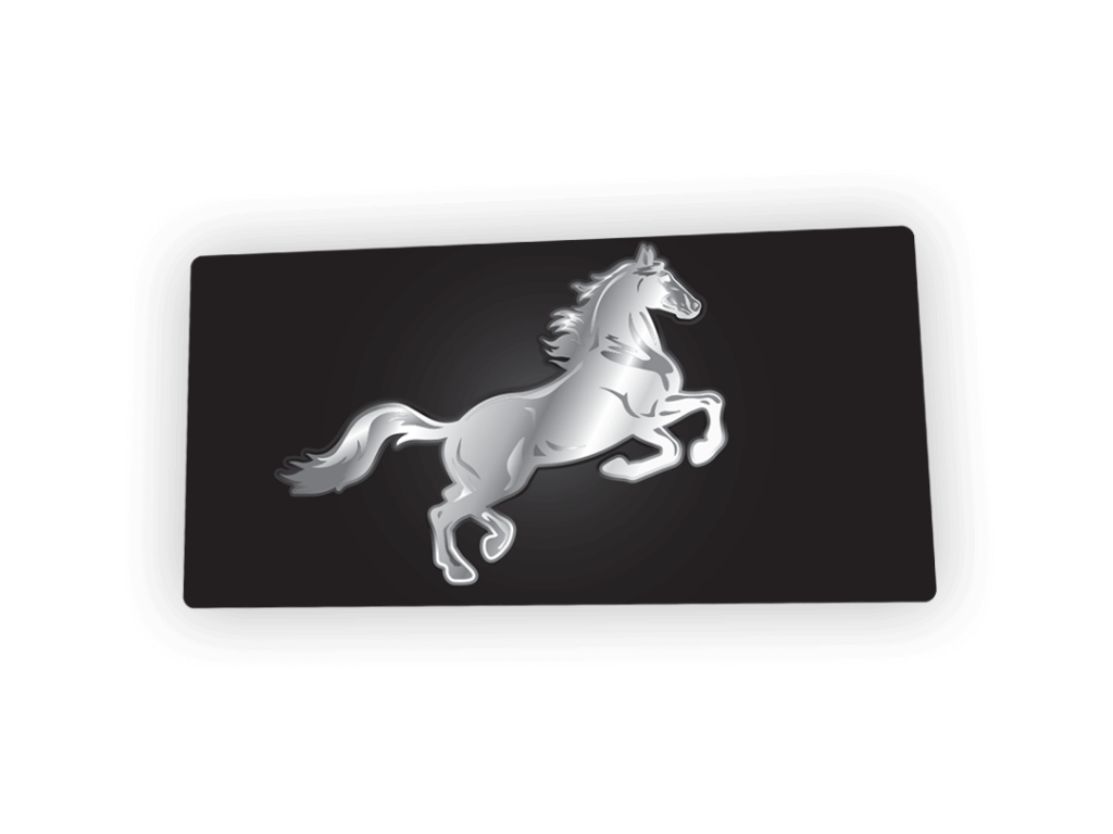 Chrome Horse License Plate