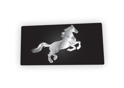 Chrome Horse License Plate