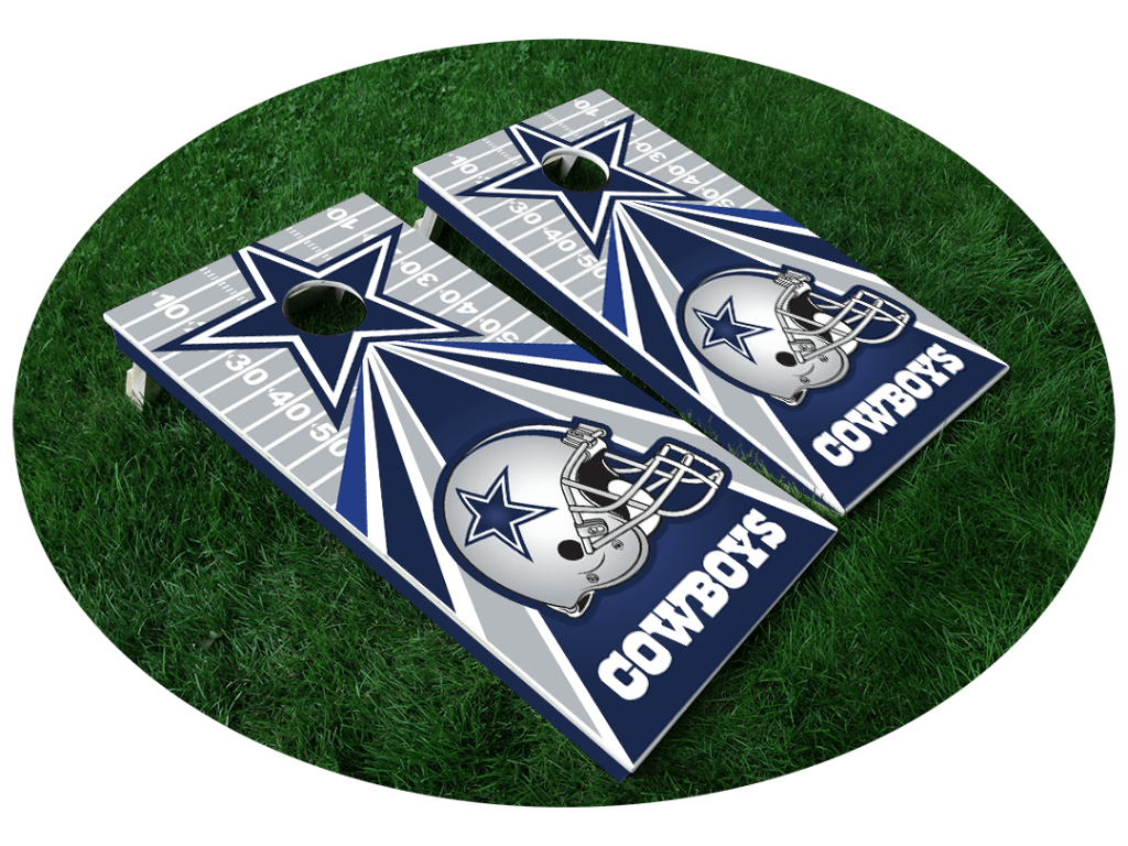 Cowboys Cornhole Board Designs