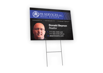 PB Services Real Estate Sign
